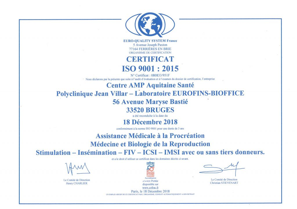 certification amp bordeaux